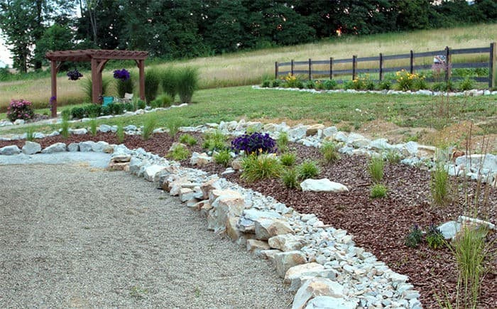 Keep Rock and mulch beds weed free