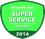 Erbert Lawns, Inc. received Angie's List Super Service Award 2016